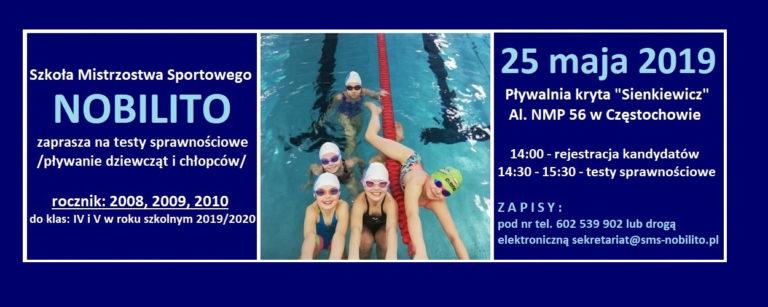 Testy sprawnościowe 25 maja / pływanie