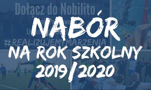 """Lista osób przyjętych do Liceum Ogólnokształcącego Mistrzostwa Sportowego """"NOBILITO"""" w Częstochowie na rok szkolny 2019/2020"""