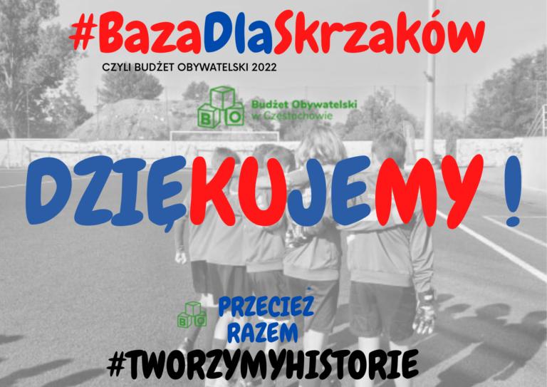 Projekt #BazaDlaSkrzaków wygrywa w Budżecie Obywatelskim!